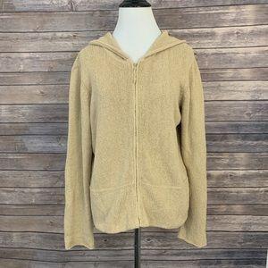 Eileen Fisher Full Zip Hooded Sweater